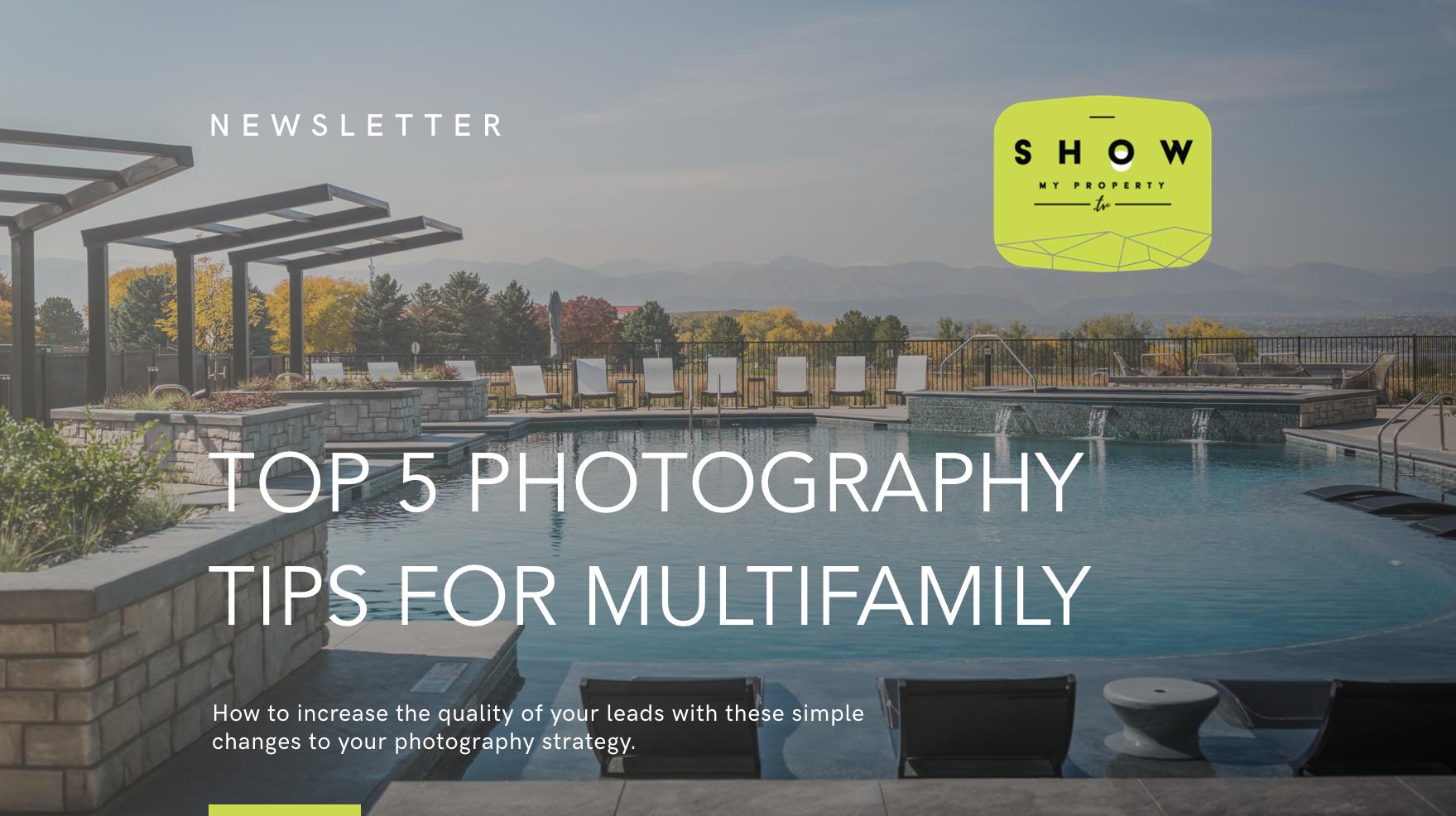 Top 5 Photography Tips for Multifamily