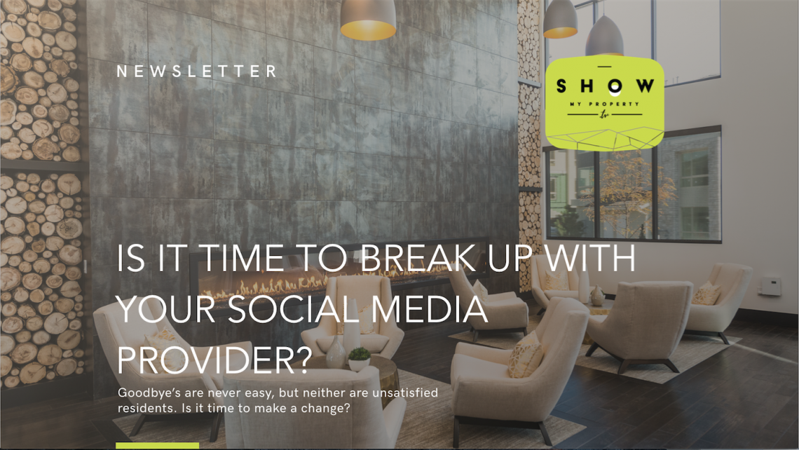 social media provider show my property tv