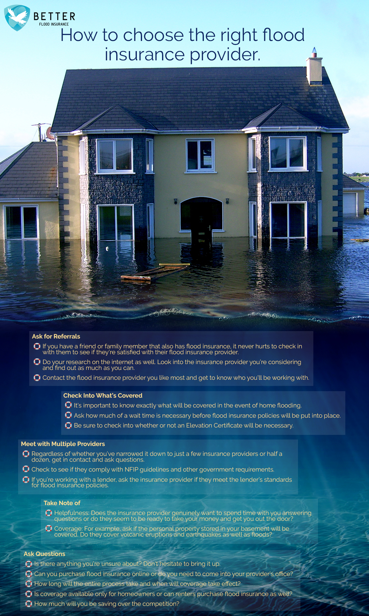 Insurance Provider How To Choose The Flood Insurance Provider