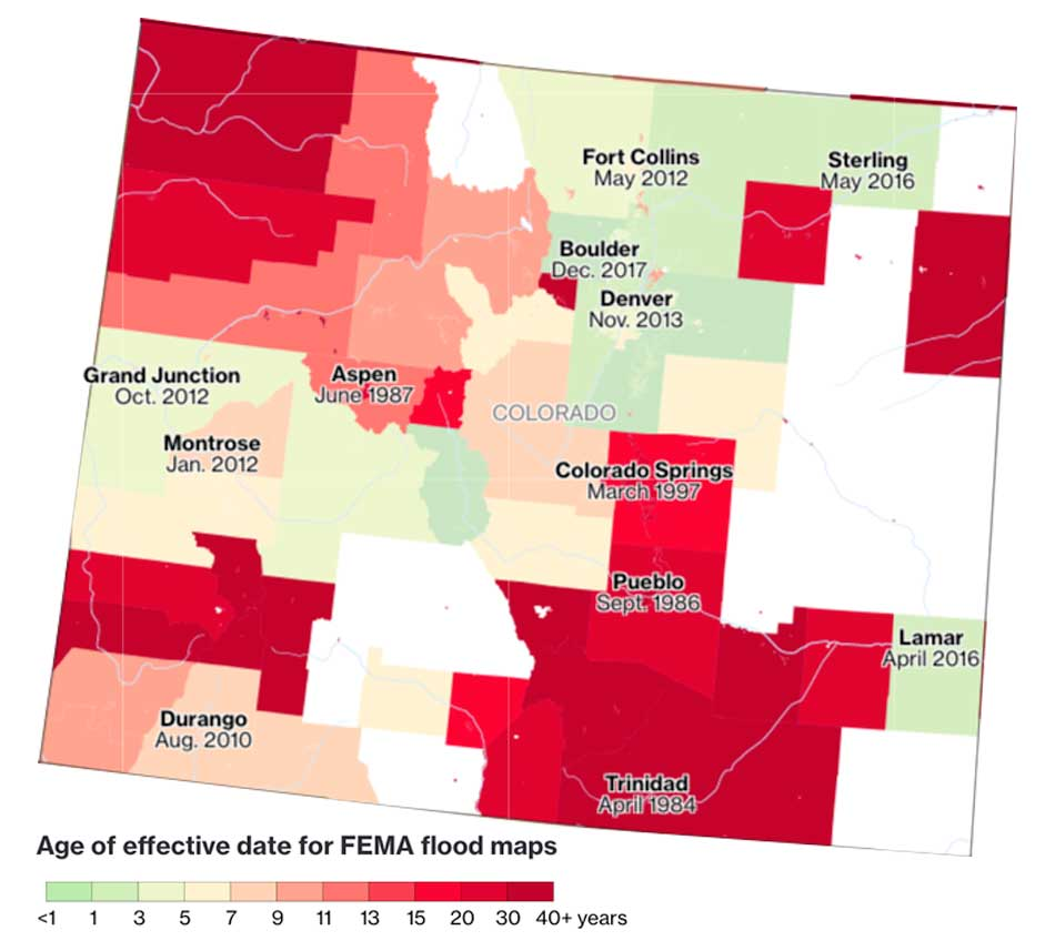 flood insurance Maps can be as old as 40 years