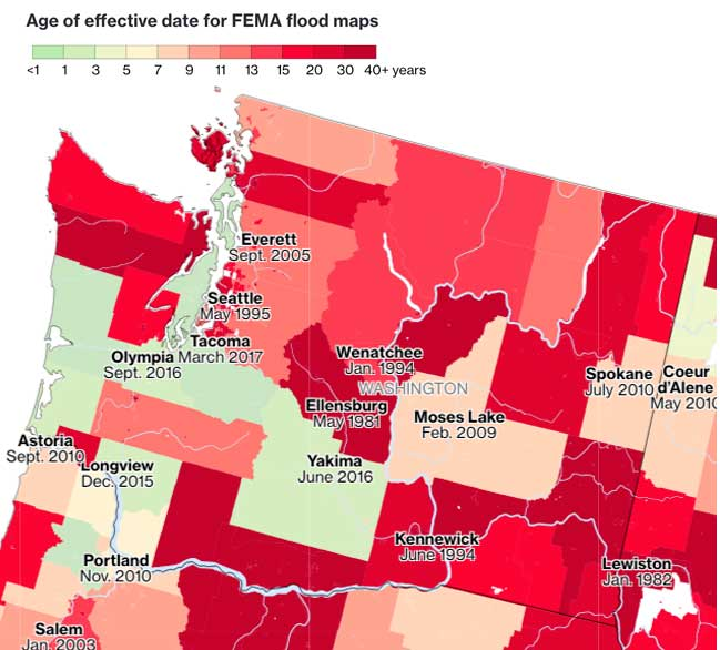 Out of date flood insurance maps