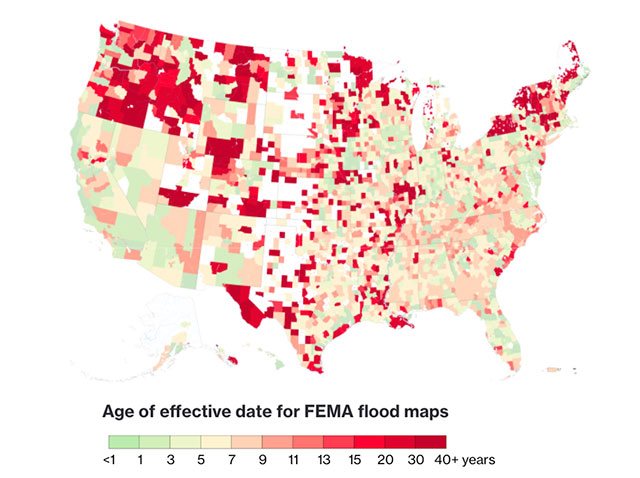 Flooding maps