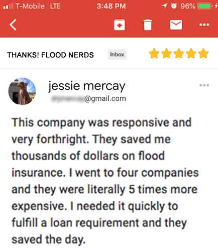 Home buyer flood insurance