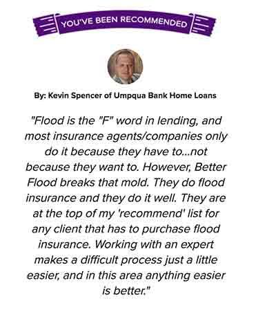 Flood Insurance testimonial 3