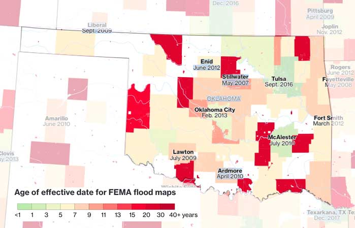 Oklahoma flood insurance Rate Maps