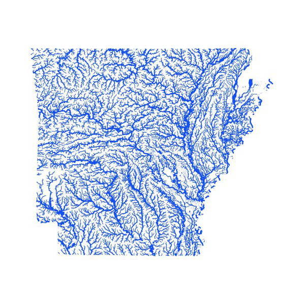 Arkansas Flood map