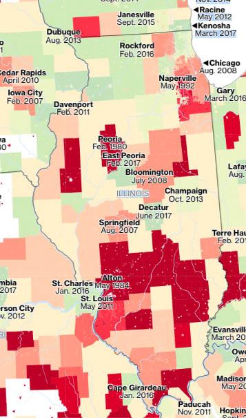 Illinois Flood maps