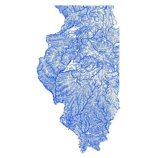 Illinois flooding map