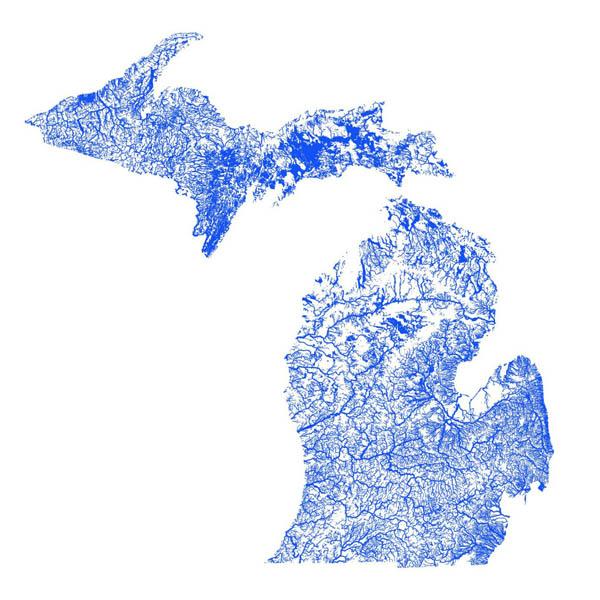 Michigan flooding map