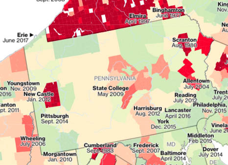 PA flood insurance rate maps