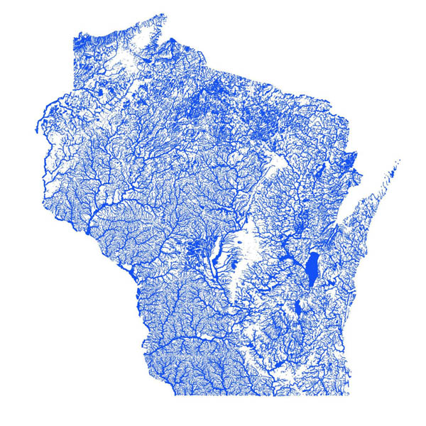 WI flooding map