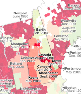VT flood zone map