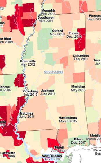 Mississippi flood rate maps
