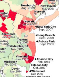 NJ flooding map