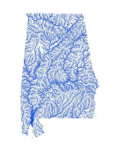 Alabama Flooding map