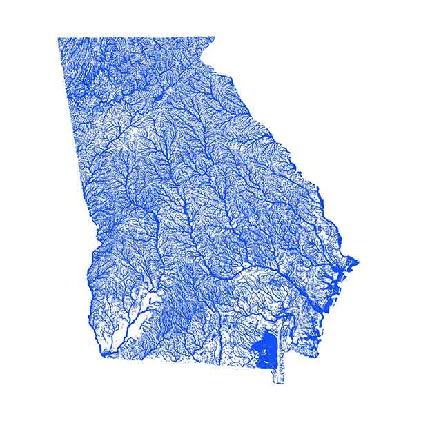 Georgia flood map