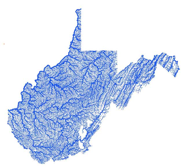 WV flood map