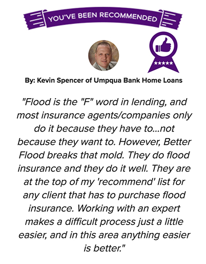 Lender approved flood insurance