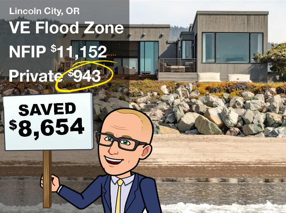 Oregon Flood Insurance in VE flood zone