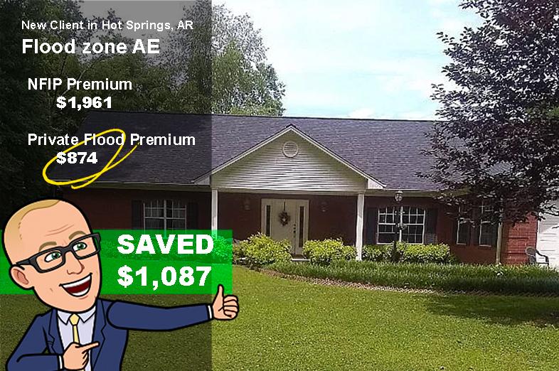 Arkansas home for sale save flood on insurance