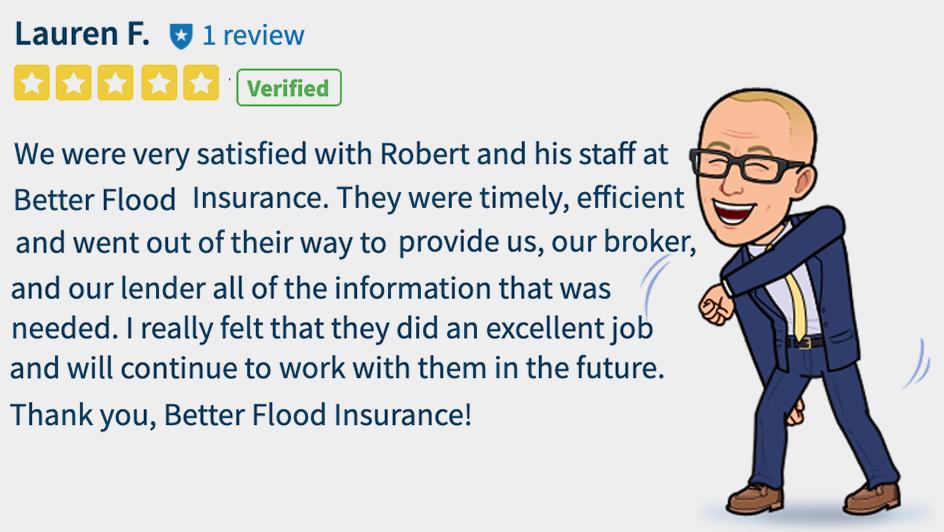 Satisfied Customer of better flood insurance