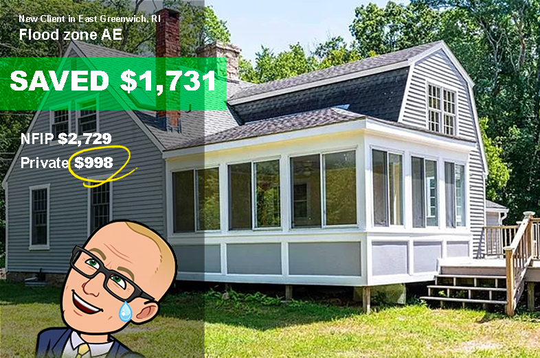 Home for sale needs flood insurance in Rhode island