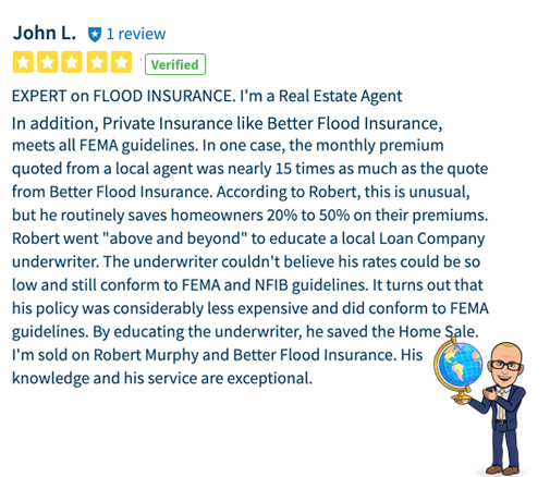 Agent review of better flood insurance