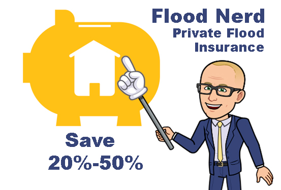 Flood Nerds Save Money with Private Flood insurance