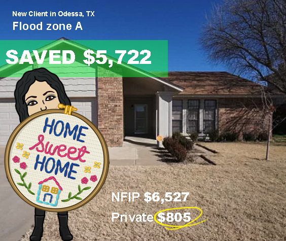 Odessa, TX Huge Savings on Flood insurance with Private Flood