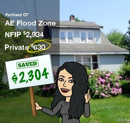 AE Flood insurance in Connecticut Portland