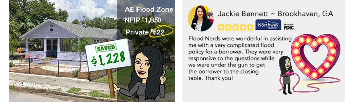 Jackie loves the flood nerds