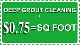 At $0.75/sq.ft for Tile Grout Cleaning service, you'll be thrilled with how your floors shine! (Ask about grout sealing)