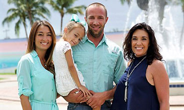 Bullfish Air Conditioning's owner and his family