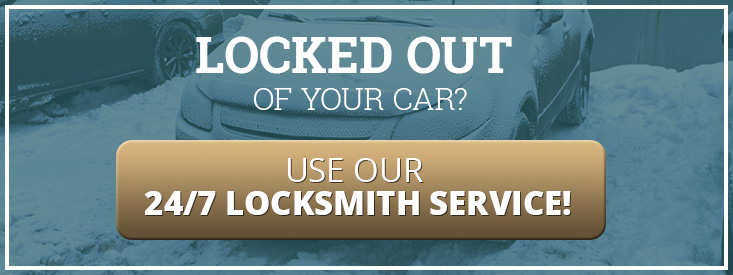 Call to action for calling a locksmith when locked out of a vehicle.
