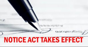 Notice Act