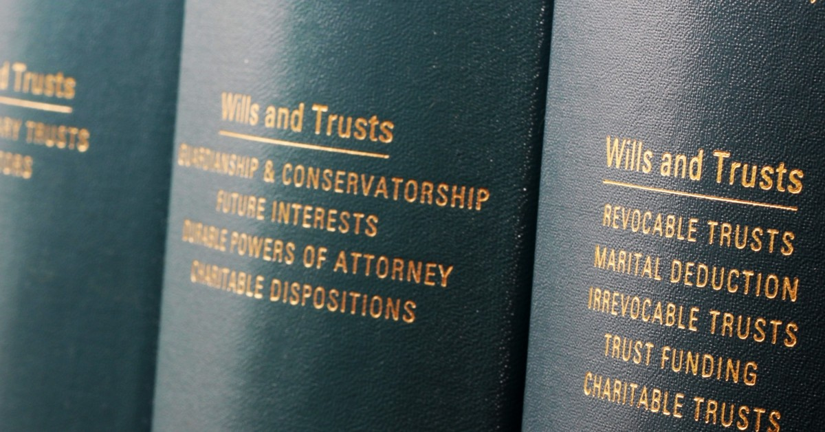 Closeup of a law textbook about guardianships and conservatorships