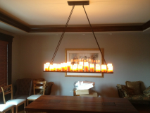 Unique light fixture installation in Aurora
