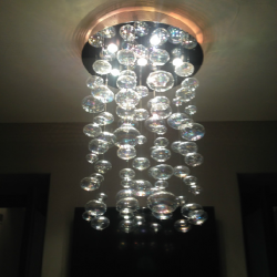 Bubble light fixture installation in Aurora