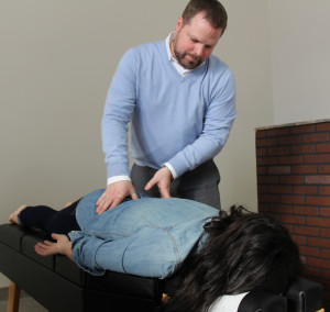 Patient getting DMR treatment at Blaine Health & Wellness in Blaine.