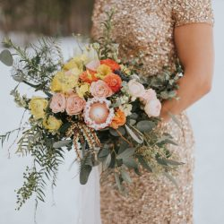 A Chic Bridal Bouquet