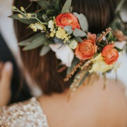 Stunning Hair Flowers On A Colorado Bride