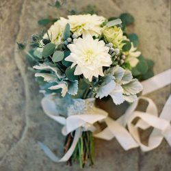 White And Sage Bridal BouquetD