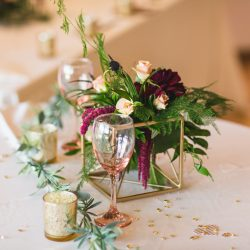 Geometric Wedding Table Flowers