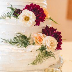 Dahlias On A Wedding Cake