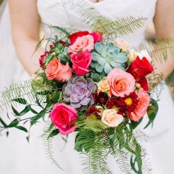 Vibrant Bridal Bouquet by Bliss Wedding Florist