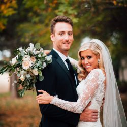 A Gorgeous Couple & Their Stunning Bliss Bridal Bouquet