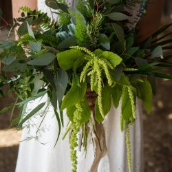 Stunning Foliage Bridal Bouquet By A Colorado Wedding Florist