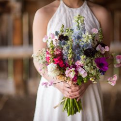 A Stunning Flower Bouquet For A Colorado Wedding