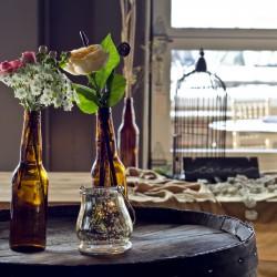 Colorado Wedding Cocktail Table Setting