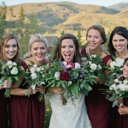 All the ladies & their Bliss bouquets.